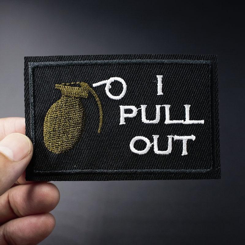 Je tire. .. Badge brodé taille 5.0x7.9cm, pour bricolage, vêtements appliqués, repassage, vêtements, fournitures de couture, Badges décoratifs