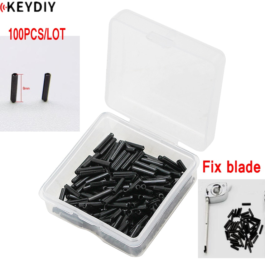 100 шт. X ключ дистанционного управления пустой фиксированный штифт 1,6 мм штифт фиксированный для складного полотно дистанционного ключа L:8 мм D: 1,6 мм для ключа KD / VVDI
