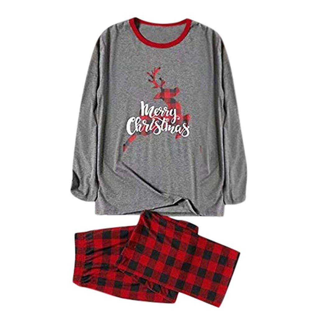 Pijama de Navidad, Conjunto de pijama familiar, pijamas de Papá Noel para parejas, pijamas para hombres y mujeres, d91125