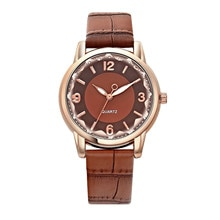Simple Quartz Watch Stainless Steel Dial Watch for Women Leather Band Clock Simple Gift Relogio Femi