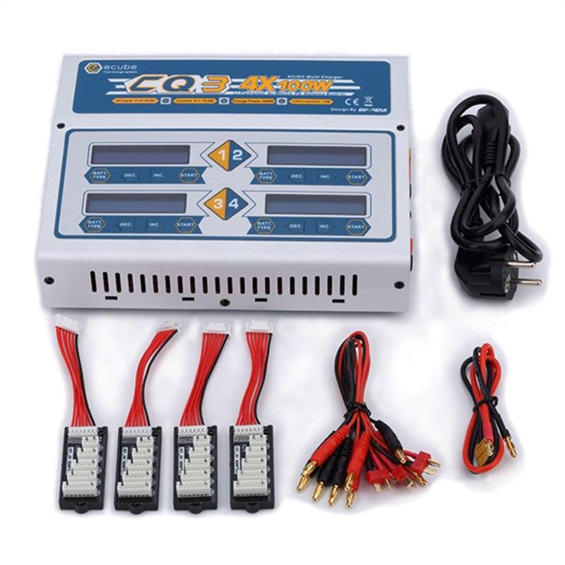 EV-пик 100 Вт x 4 CQ3 RC Баланс Lipo зарядное устройство Nimh Nicd литиевая батарея зарядное устройство Dis зарядное устройство с цифровым ЖК-экраном
