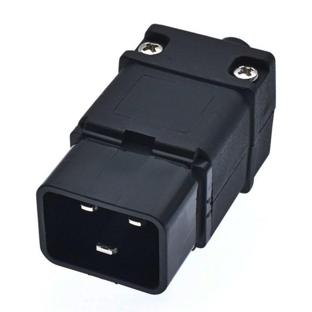 مجموعة 10 IEC-60320 C20 ذكر استقبال سلك الطاقة موصل Rewireable التوصيل 100 ~ 250 فولت 16A