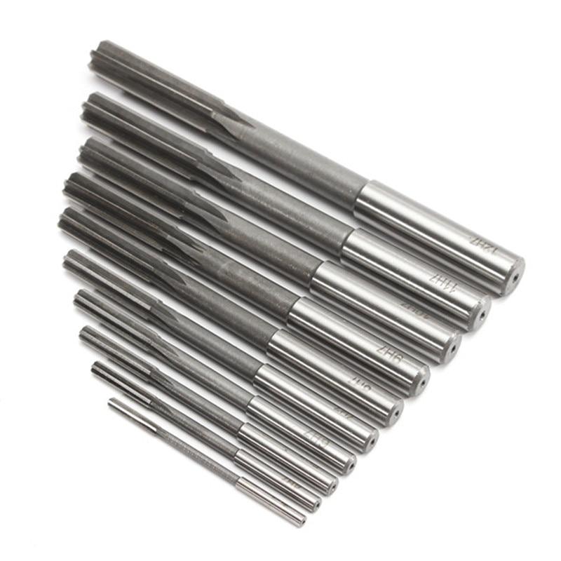 10pcs/Set HSS H7 Machine Reamer Straight Shank Milling Reamers Precision Chucking Machine Cutter Tool 3/4/5/6/7/8/9/10/11/12 mm