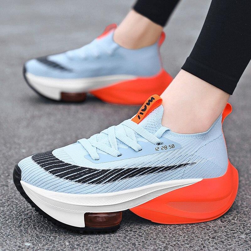 المرأة منصة أحذية رياضية وسادة هوائية النساء احذية الجري في الهواء الطلق النساء أحذية رياضية النساء حذاء كاجوال موضة مكتنزة الأحذية