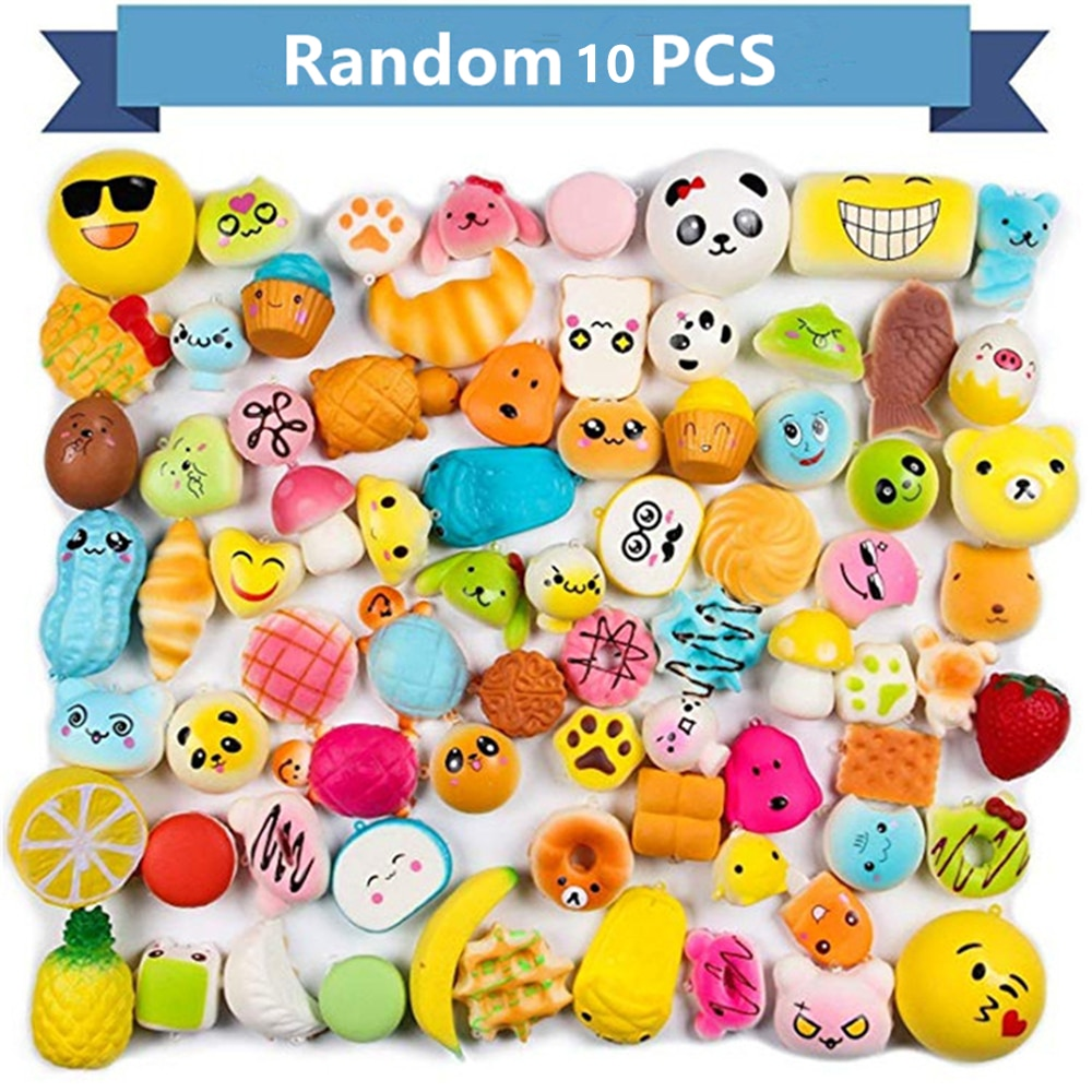 Random 10pcs/Pack No-Repeat Squishy Ice Cream Scented Slow Rising Kawaii Simulation Lovely Toy Soft Food Squishy Relief Toy enlarge