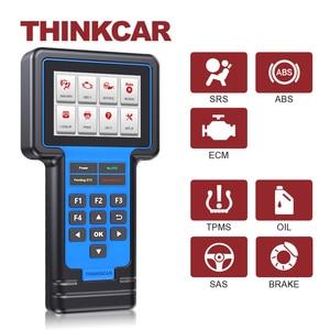 Image 1 - Thinkcar Thinkscan 601 OBD2 читатель кода блока управления двигателем/АБС пластик/ПП автомобильное масло сканера/Система контроля давления в шинах/стоп сигнал/SAS сброс диагностический инструмент