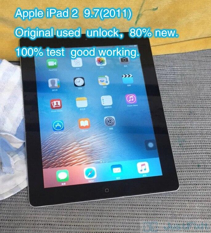Original refurbish apple ipad 2 ipad 2011 9.7 polegadas wifi versão preto sobre 80% novo