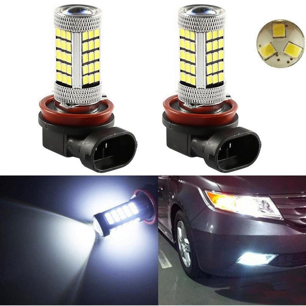 AliExpress - 2x H4 H7 H8 H11 9005 9006 Led Fog Lights Lamp Foglight Bulb 2835 Chips 66SMD White HB3 HB4 Car Driving Running Auto Foglamps DRL