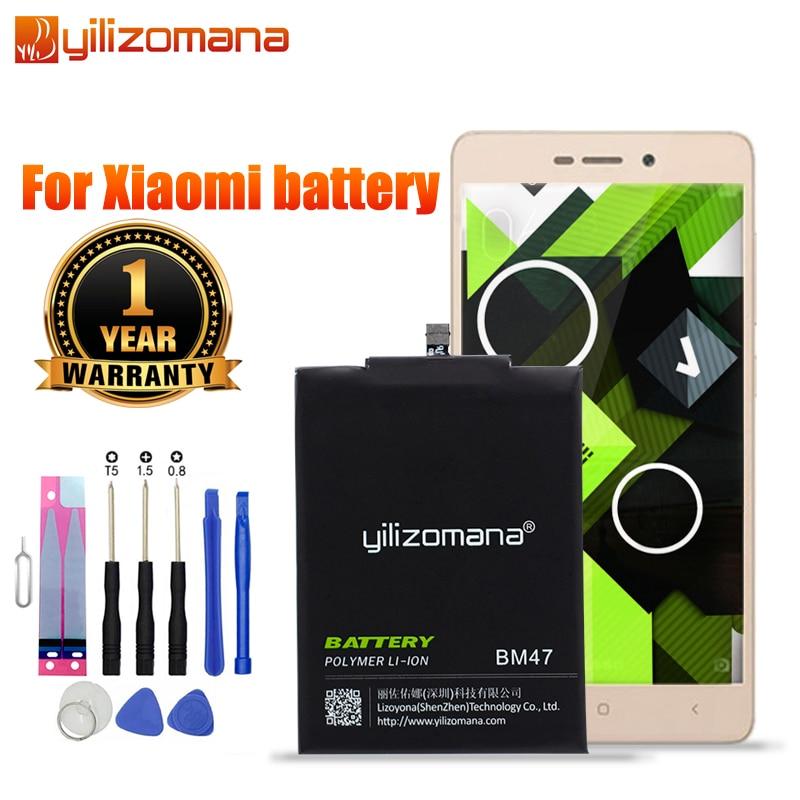 YILIZOMANA Оригинальный аккумулятор для телефона BM45 BM46 BM47 BN41 BN43 для Xiaomi Redmi 4X 3S 3X 3 Pro Note 3 3Pro Note 4 Note2 Bateria