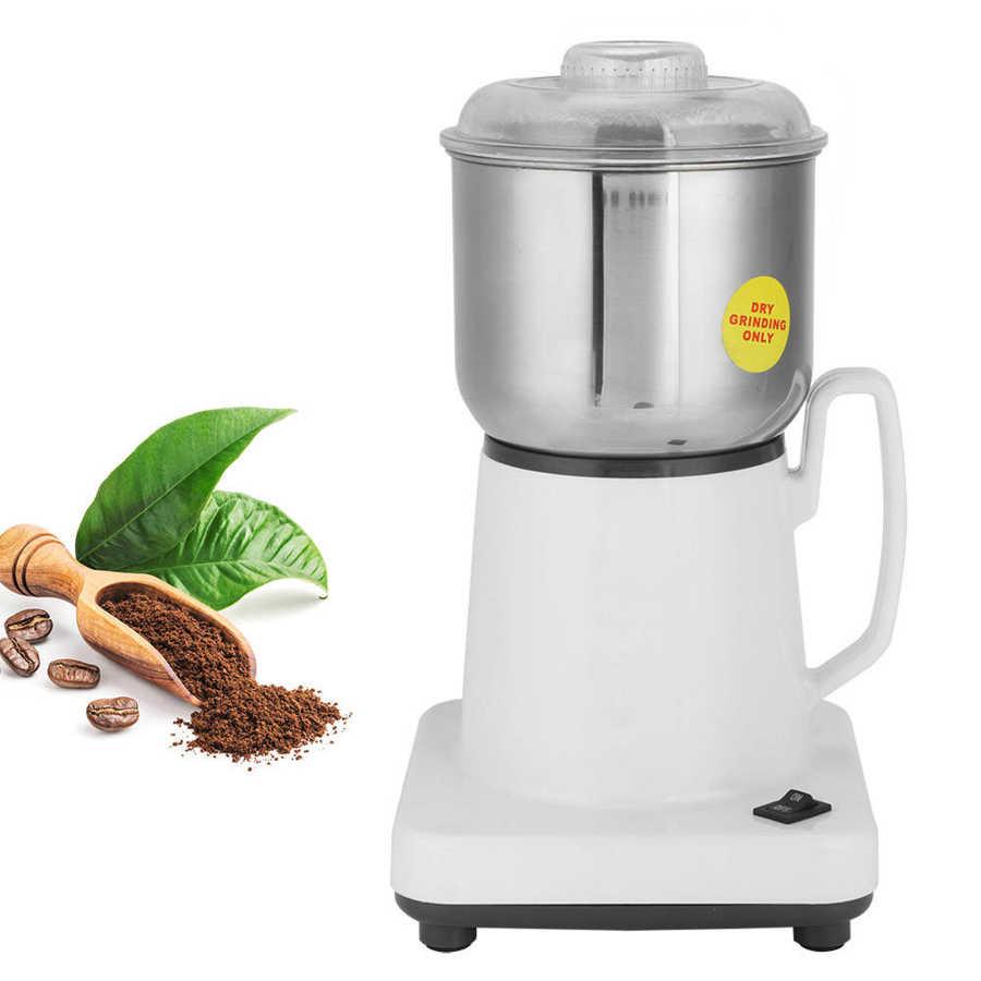 Molinillo de café eléctrico, con hoja de acero inoxidable, sal, pimienta, moler, especias, nueces, semillas, molinillo de café, máquina rectificadora de café con enchufe europeo de 220V 400W