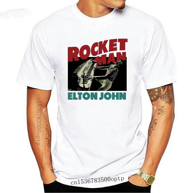 New Elton John Rocket Man Honky Chateau Piano Official Tee T-Shirt Mens Unisex Tops O-Neck Shirts