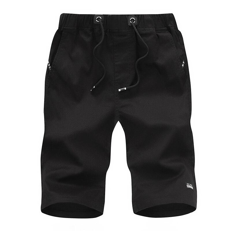 Мужские летние бриджи, хлопковые шорты, повседневные Бермуды, черные бордшорты, Мужская классическая брендовая одежда, Пляжная Мужская одежда для мальчиков