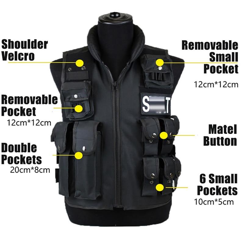 Высококачественный мужской тактический жилет с 11 карманами, Охотничий Жилет, модульный защитный жилет для спецназа, жилет для военных учен...