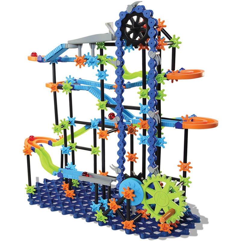 Nuevo circuito de bloques de construcción de mármol, circuito de bolas de laberinto, circuito de pistas de mármol, bloques elevadores, juguetes para niños DIY