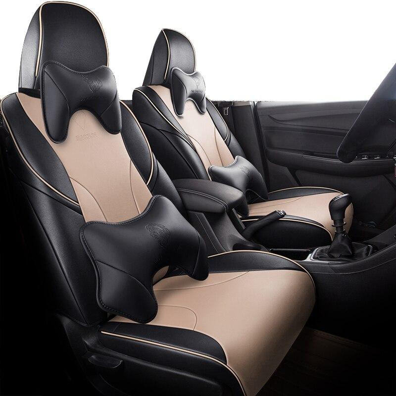 Negro cubierta de asiento de coche para opel astra k zafira a...