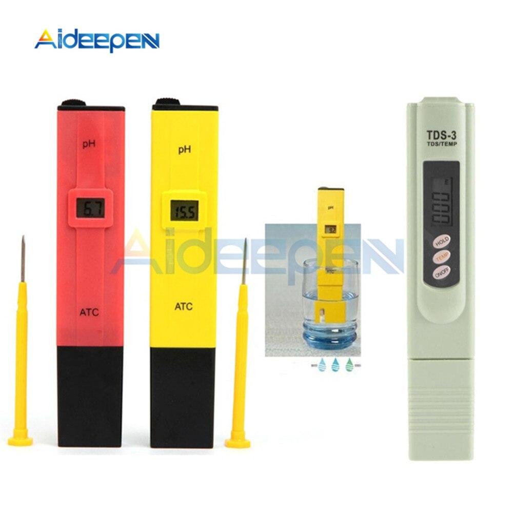 Medidor de PH TDS-3 lápiz portátil LCD Digital medidor de filtro de alta precisión herramienta de prueba de pureza de calidad del agua para el agua de la piscina de acuario