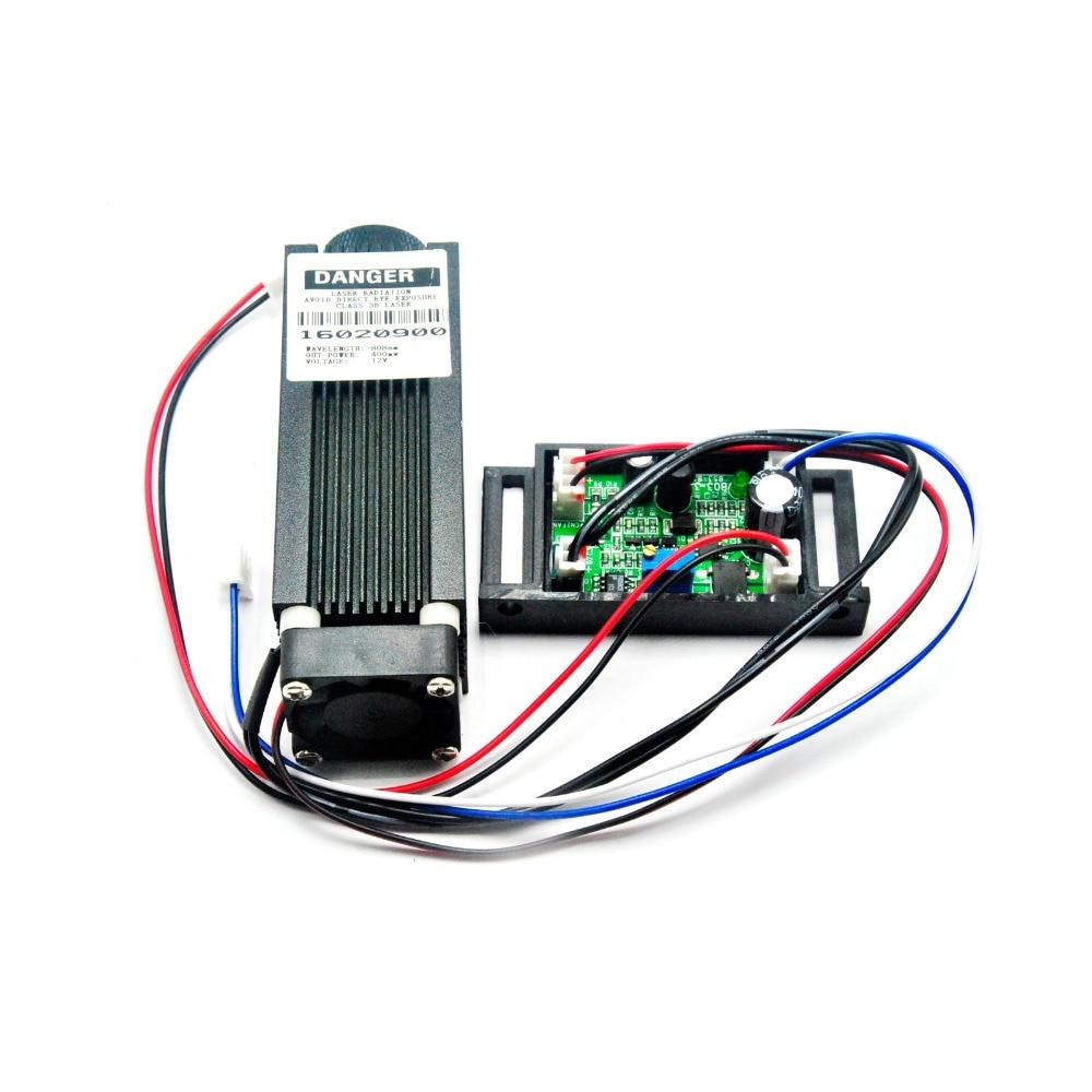Módulo de puntos láser enfocable de alta potencia 808nm infrarrojo IR 400mw 0,4 W 12V 33x80mm TTL