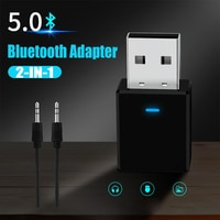 Адаптер-трансмиттер GOOJODOQ, Bluetooth 5,0, беспроводной ключ USB, 2 в 1, для ПК, ТВ, автомобиля, Bluetooth, музыки, домашний динамик