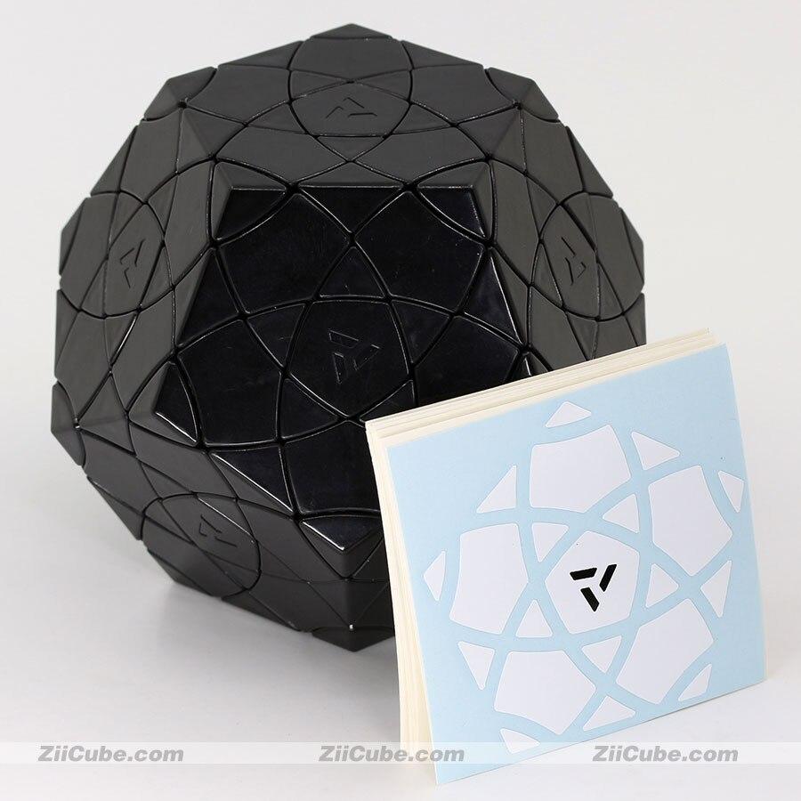 مكعب سحري أحمر من القطن ، أحجية ، ألعاب تعليمية احترافية ، mf8 ، AJ ، Dodecahedron Cube ، Bauhinia ، Megaminxeds ، Ziicube
