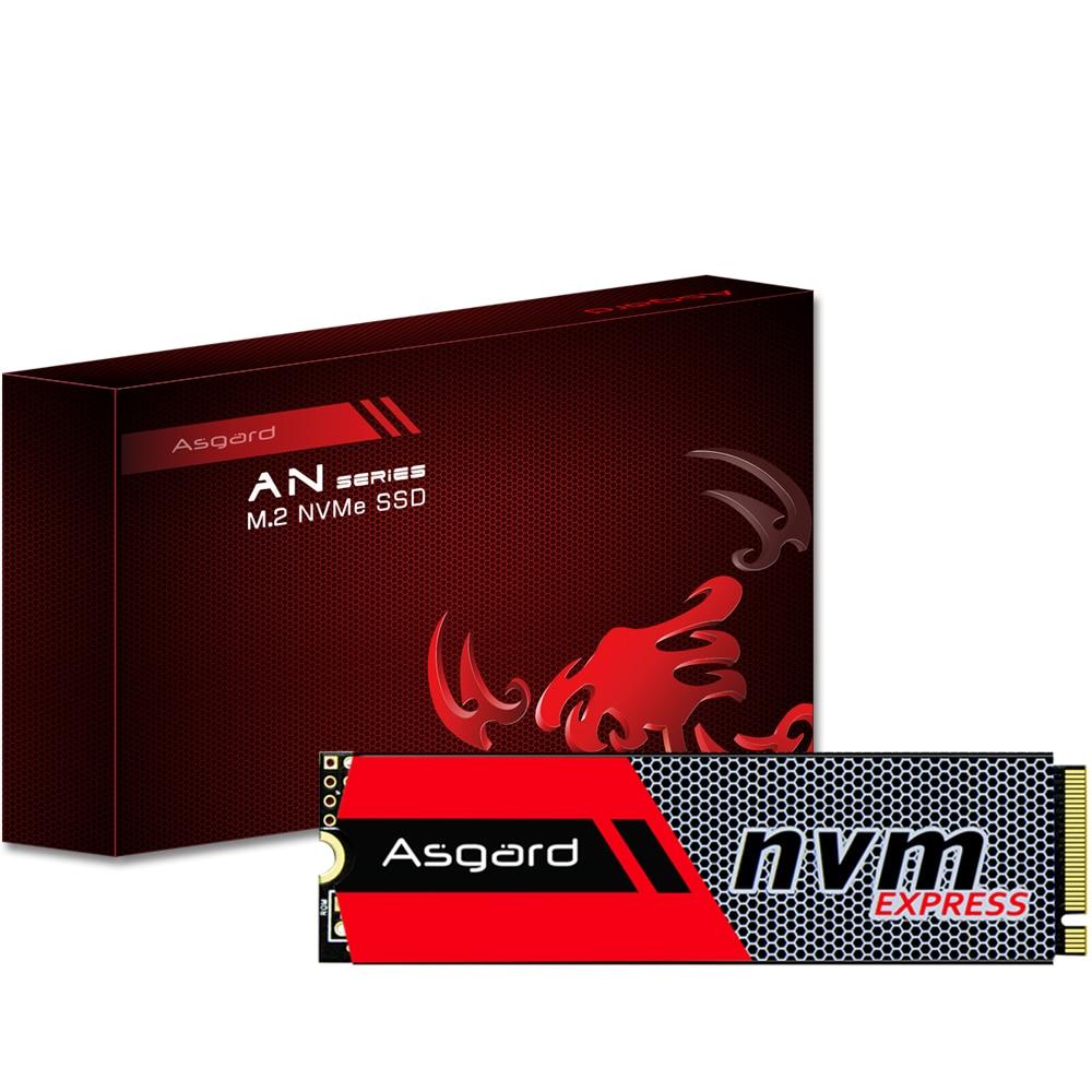 Asgard M.2 ssd M2 256gb 512gb PCIe NVME محرك الحالة الصلبة 2280 قرص صلب داخلي hdd لأجهزة الكمبيوتر المحمول سطح المكتب