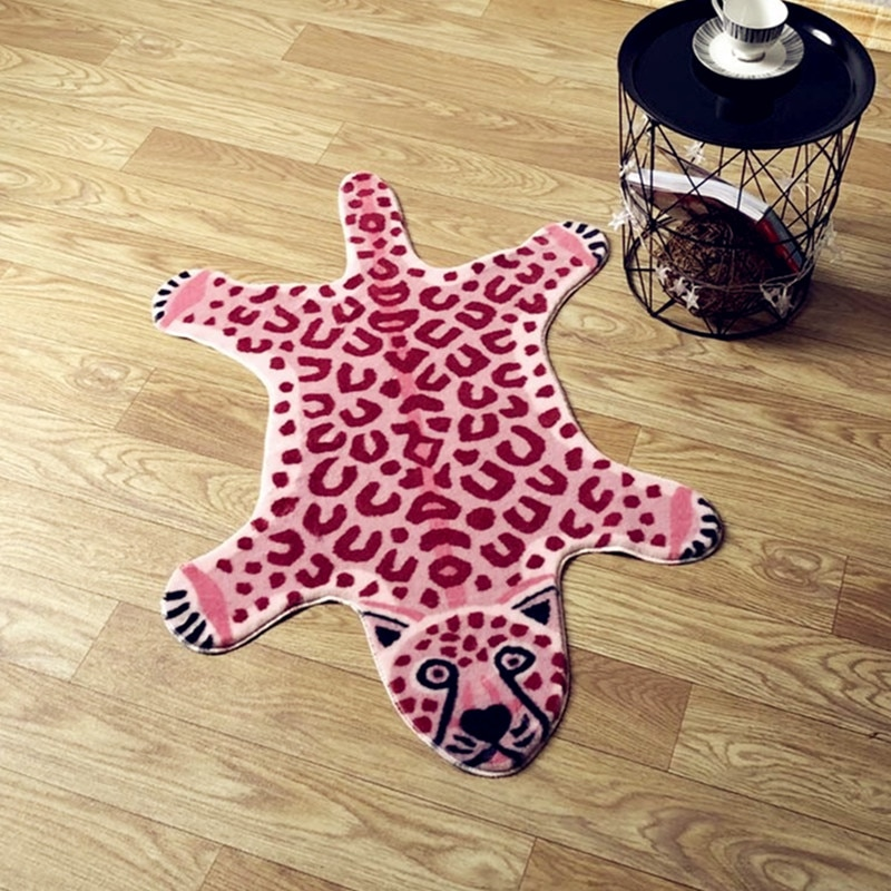 2020 new tiger printed Rug Cow Leopard Tiger Printed Cowhide faux skin leather NonSlip Antiskid Mat Animal print Carpet dolphins playing print nonslip floor rug