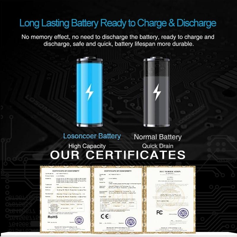 100% Original LOSONCOER NEW 5500mAh HB446588EFW Battery For Huawei HB446588EFW Mobile Phone Battery enlarge
