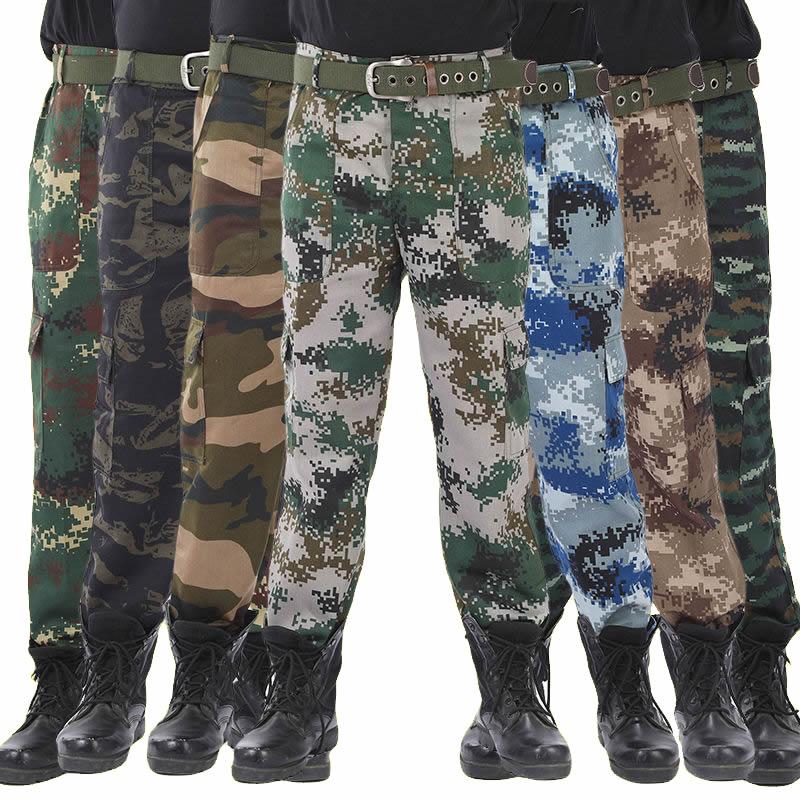 2020 мужские камуфляжные военные брюки, хлопковые мужские штаны-шаровары для бега, свободные удобные брюки-карго, камуфляжные штаны для бега ...