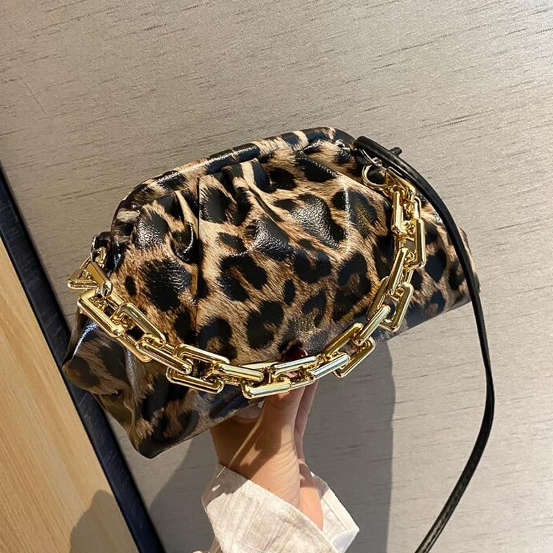 Bag For Women Cloud bag Soft Leopard Leather Bag Single Shoulder Purse Women Crossbody Bag Luxury Handbag And Purse Day Clutches