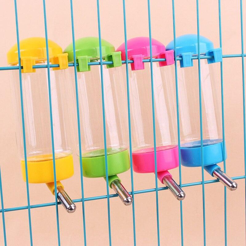 3 Tamanhos de Plástico Hamster Garrafa de Água Potável Dispenser Feeder Hanging Dog Pet Guiné Porco Coelho Esquilo Cabeça Tubo de Fonte