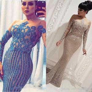 mermaid prom dresses 2021 sheer crew neckline long mermaid long sparkly evening dresses gowns shinning long evening dresses gown