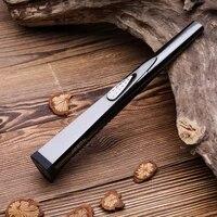 jobon metal lighters arc usb rechargeable windproof lighter cigarette lighters kitchen outdoor bbq