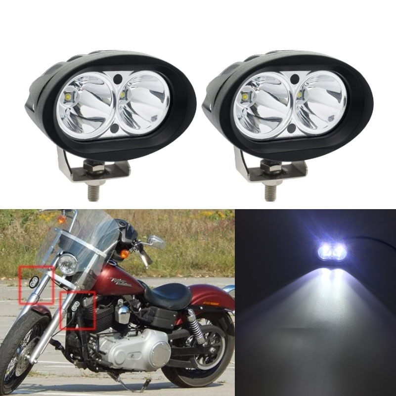 Luz LED ovalada 20w12-30V 6500K para motocicletas, coches, camiones, tractores, barcos, remolques, SUV, todoterreno, luces LED ATV,
