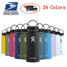 Hydro Water Bottle Flask Stainless Steel Water Bottle Vacuum Insulated Wide Mouth Travel Portable Th