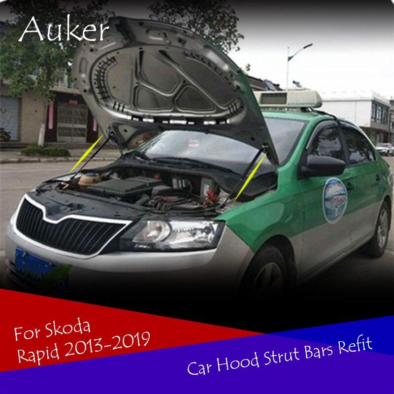 Car Bonnet Cover Strut Bars Hydraulic Rod No Drilling/Welding Accessories For Skoda Rapid Spaceback 2013-2019