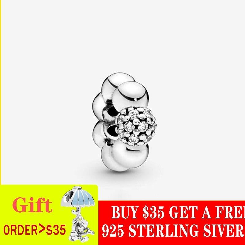2019 otoño nuevo cuentas de plata esterlina 925 pulido y pavimentado abalorios espacio encantos Ajuste Original Pandora pulseras DIY joyería para las mujeres