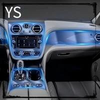 car interior center console transparent tpu protective film anti scratch accessories refit paste for bentley bentayga 2016 2019