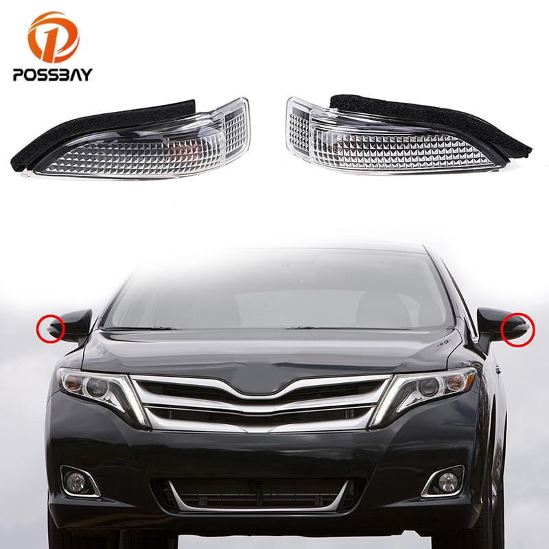 Luces POSSBAY para coche, luz intermitente de espejo lateral izquierda/derecha para Toyota Avalon, Corolla Venza, Camry para Scion iM 2016