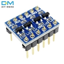 5V 3.3V DC ogic convertisseur de niveau Module de carte bidirectionnelle pour Arduino avec broches bricolage carte de circuit imprimé électronique IIC I2C