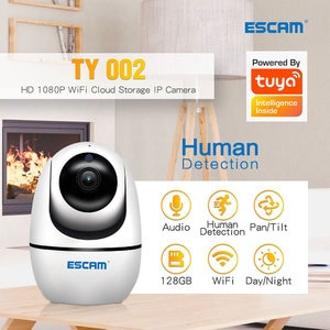 ESCAM TY002 2MP 1080P Support Tuya Wireless Intercom  PTZ IP Camera AI Humanoid Motion Detection  Auto Tracking CCTV Monitor