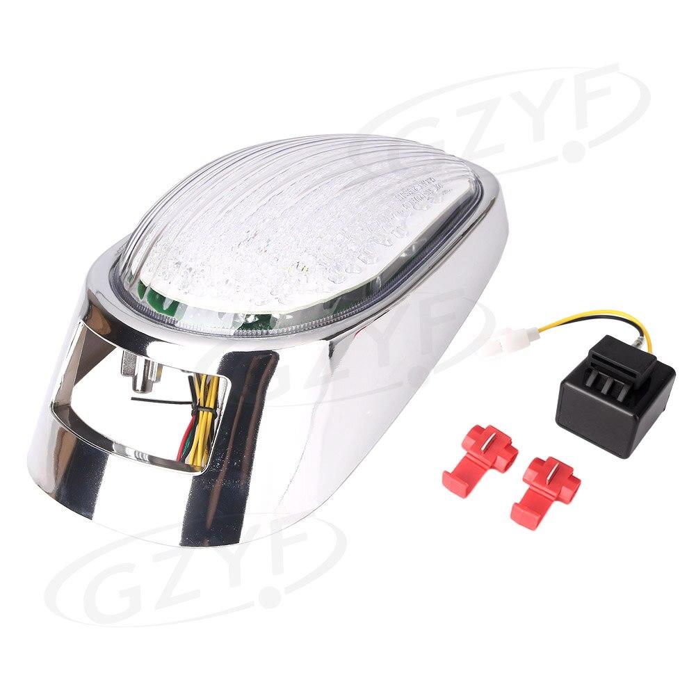 Intégré LED moto feu arrière frein arrière lampe avec clignotants lumières pour Kawasaki Vulcan VN2000 2005 2006 2007 clair