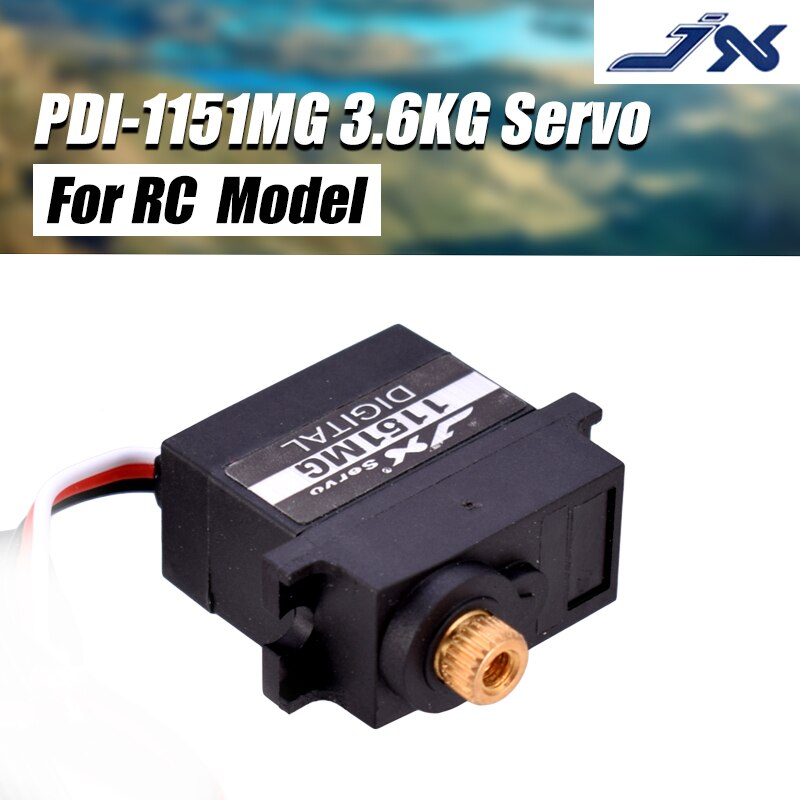 Venda quente jx servo PDI-1151MG 3.6 kg mini 6 v à prova dwaterproof água núcleo digital servo para rc helicóptero carro robô barco