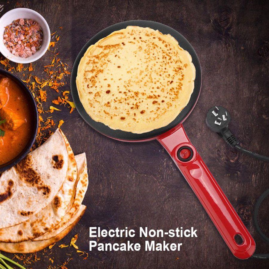 220V Electric Crepe Maker Round Non-stick Pancake Maker Kitchen Frying Pan Roll Cake Machine Breakfast Baking Appliances недорого
