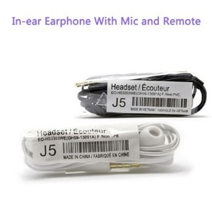 High quality 20pcs/lot J5 Headsets In-ear Earphones Headphones Hands-free with Mic For Samsung HTC Xiaomi