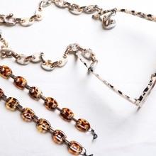 Acrylic Resin Mixed Color Eyeglasses Cord Holder Rope Neck Strap Lanyard Handmade Glasses Chain