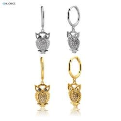 Kikichicc 925 prata esterlina 100% recém chegados oval gota brinco piercing pendiente luxo jóias finas 2020 moda ohrringe