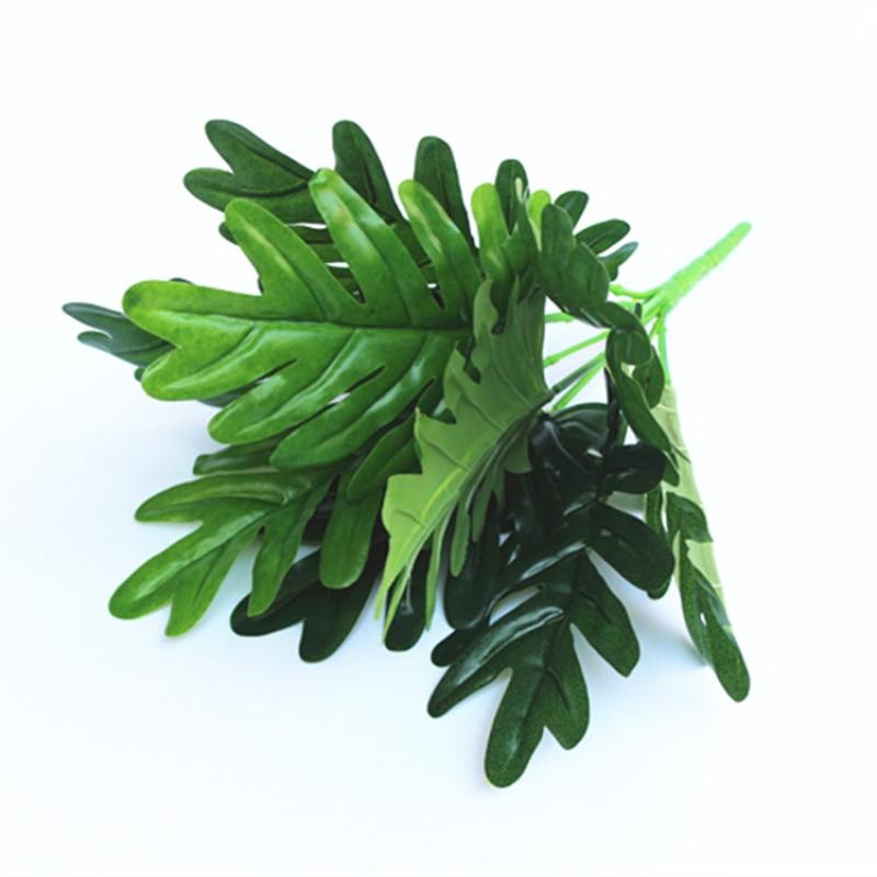 European Countryside Garden Plant Plastic Fake Leaves 9 branch Taro Leaf Plant