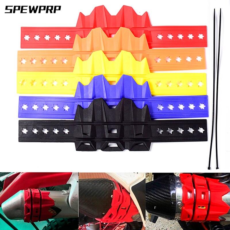 Спивпрп 5 цветов глушитель мотоцикла/круглый Овальный мото выхлопной протектор глушителя крышка может подойти 100 мм-140 мм для KTM 950 1190 1050