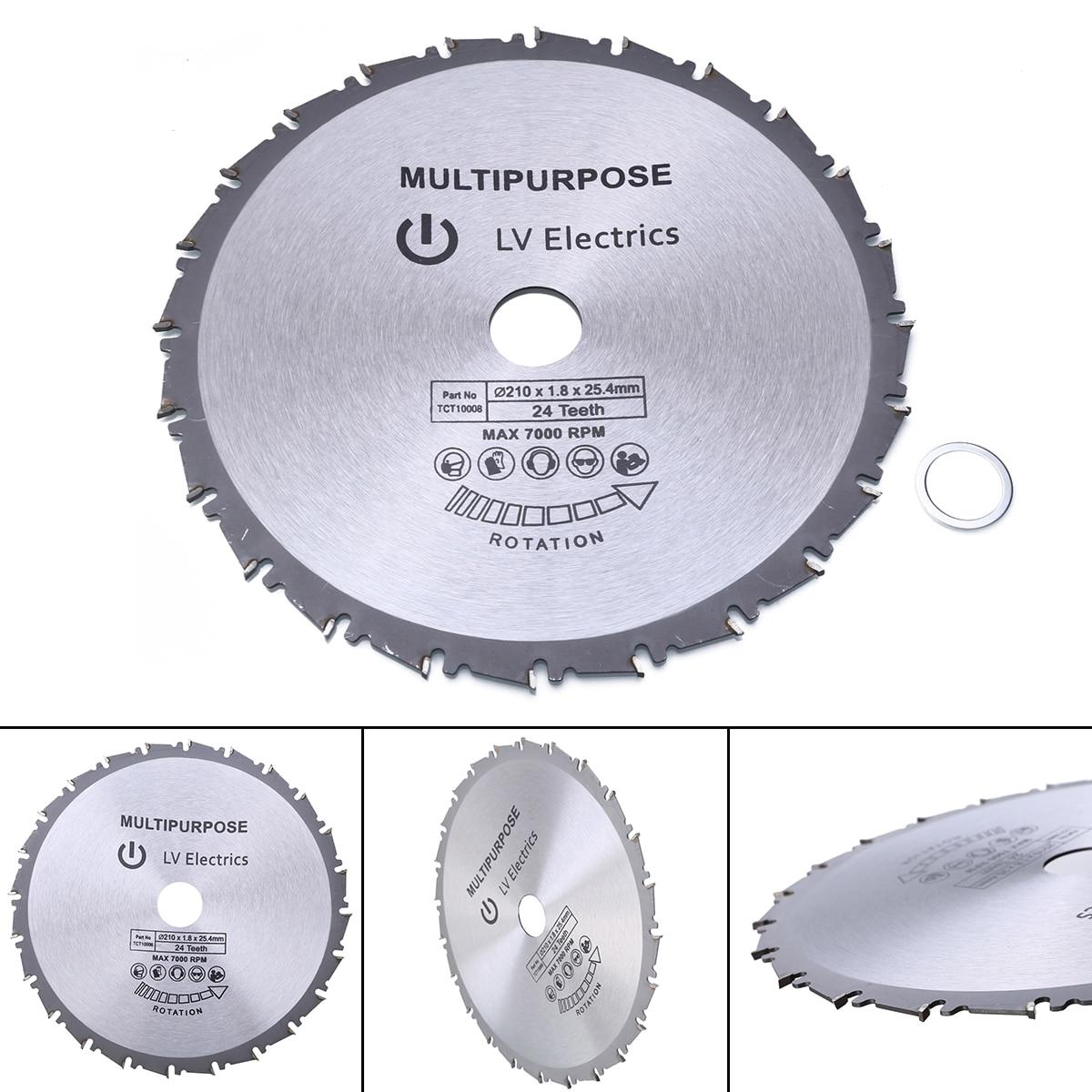1 Uds., hoja de sierra Circular de 210mm, hoja de sierra de madera y plástico para Rage Rage4 RageB, diámetro de 25,4mm, evolución, disco de corte 24T