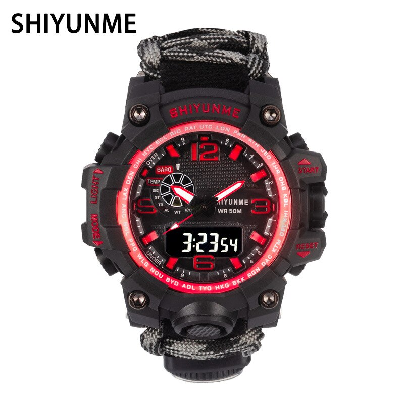 SHIYUNME Men Sports Quartz Watches Luxury Brand LED Digital Clock Military Waterproof Wristwatches Relogio Masculino weide men watches sports military strap white dial movement analog clock quartz wristwatches waterproof relogio masculino reloj