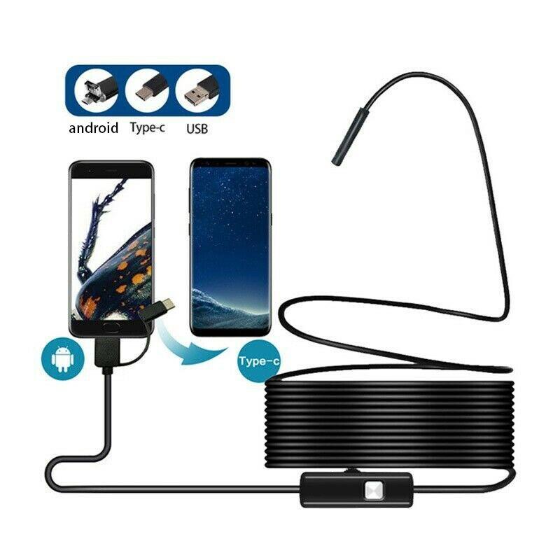 5,5 мм Android эндоскоп видео Тип c эндоскопический автомобильный телефон гибкий Водонепроницаемый Бороскоп Инспекционная камера для смартфона...